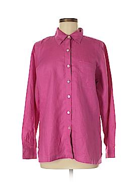 Sigrid Olsen Long Sleeve Button-Down Shirt Size M