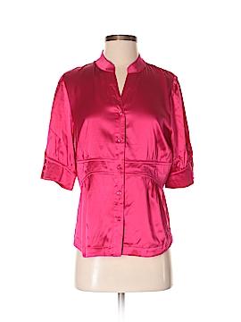 Dialogue Short Sleeve Silk Top Size S