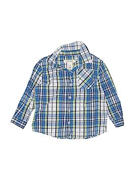 Cherokee Long Sleeve Button-Down Shirt Size 24 mo