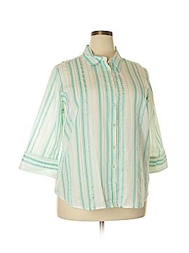 IZOD Long Sleeve Button-Down Shirt Size 1X (Plus)