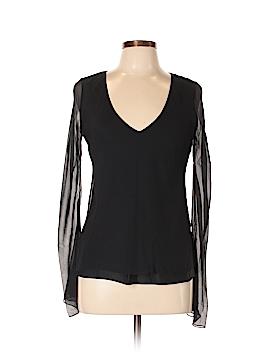 Linda Allard Ellen Tracy Long Sleeve Silk Top Size 6