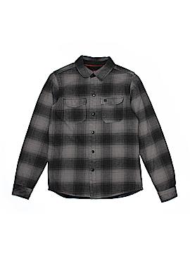 Quiksilver Long Sleeve Button-Down Shirt Size 14