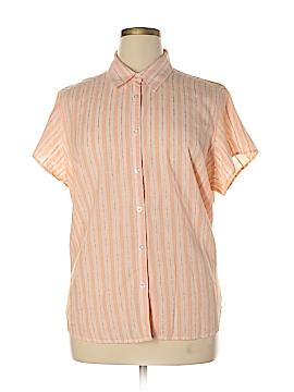 IZOD Short Sleeve Button-Down Shirt Size 1X (Plus)