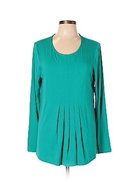 Kim Rogers Long Sleeve Top Size L (Petite)