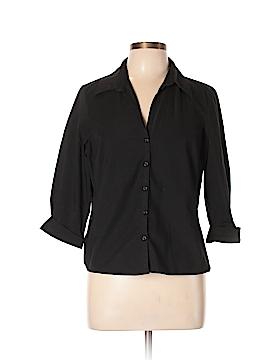 Worthington 3/4 Sleeve Button-Down Shirt Size 14 (Petite)