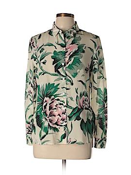 Burberry Long Sleeve Silk Top Size 8