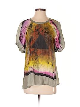 ETRO Short Sleeve Silk Top Size 38 (IT)