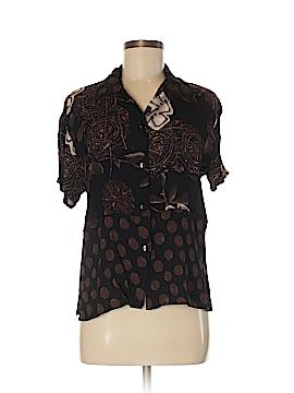 California Krush Short Sleeve Button-Down Shirt Size M