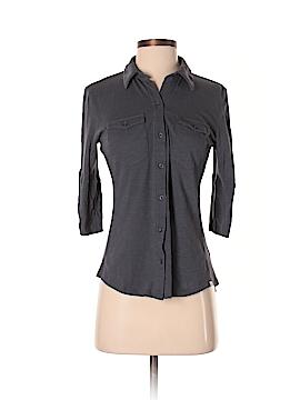 Caslon 3/4 Sleeve Button-Down Shirt Size S