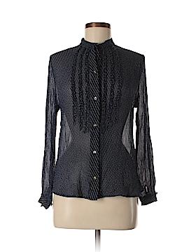 Dockers Long Sleeve Silk Top Size S
