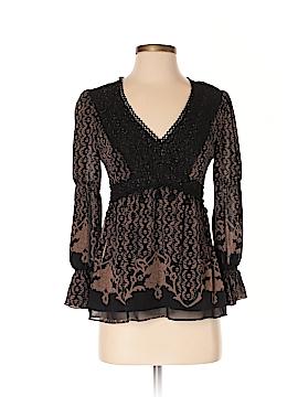 Nanette Lepore 3/4 Sleeve Silk Top Size 2