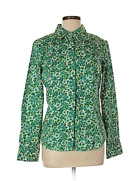 Caribbean Joe 3/4 Sleeve Button-Down Shirt Size L