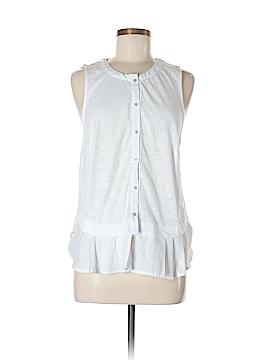Meadow Rue Sleeveless Button-Down Shirt Size L