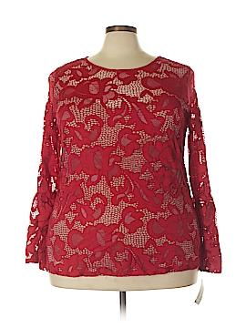 INC International Concepts Long Sleeve Blouse Size 3X (Plus)