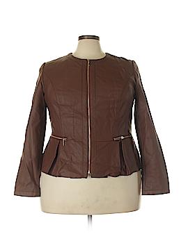 INC International Concepts Faux Leather Jacket Size 1X (Plus)