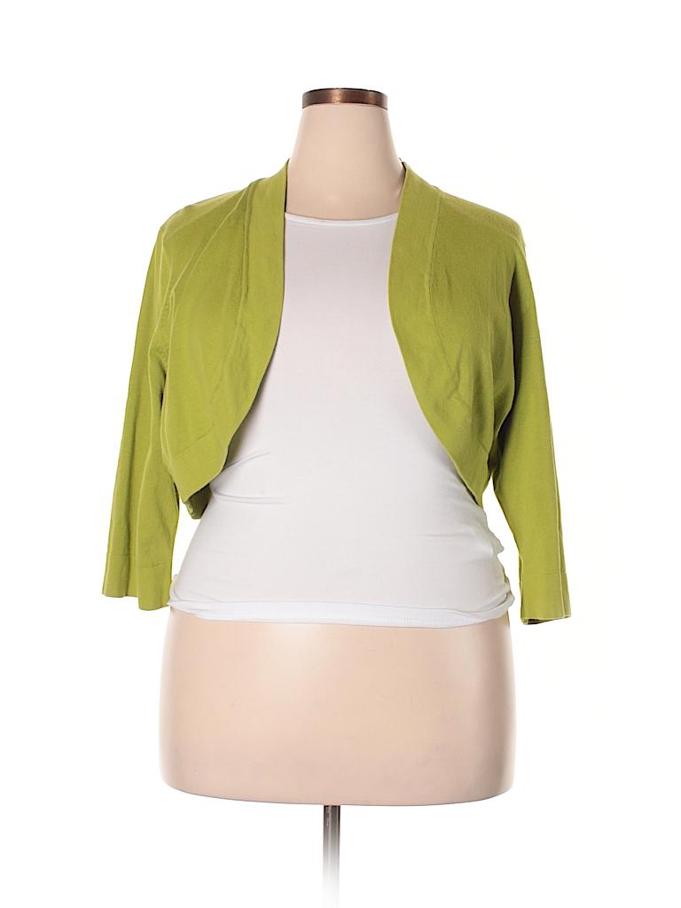 38617d5768c Jessica Simpson Solid Light Green Shrug Size 22 (Plus) - 76% off ...