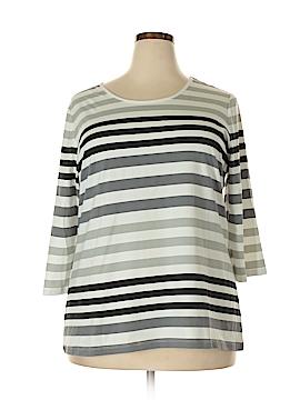 D&Co. 3/4 Sleeve T-Shirt Size 1X (Plus)