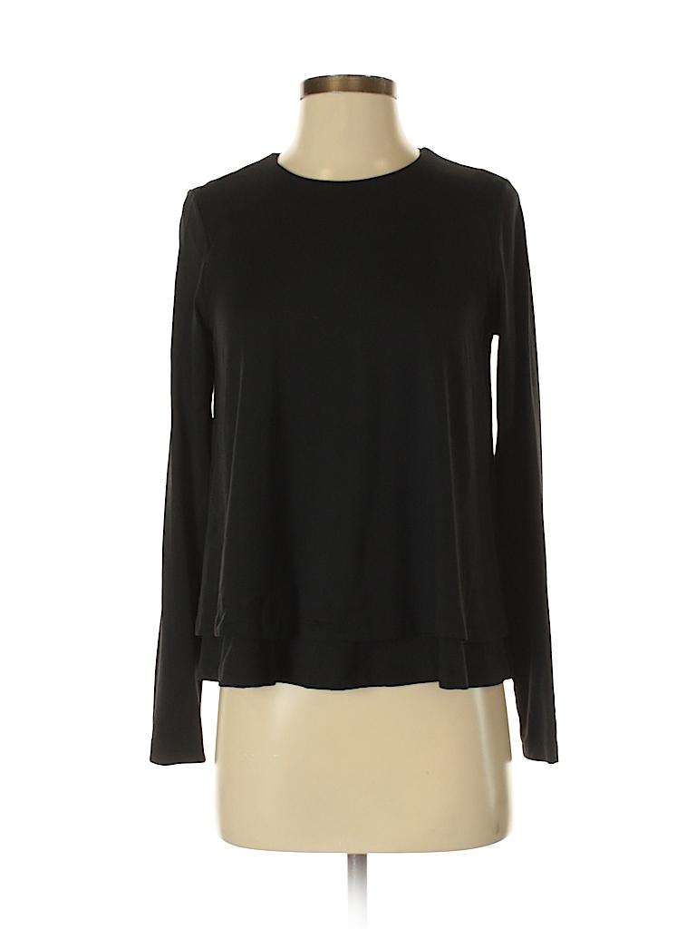 Susana Monaco Women Long Sleeve T-Shirt Size XS