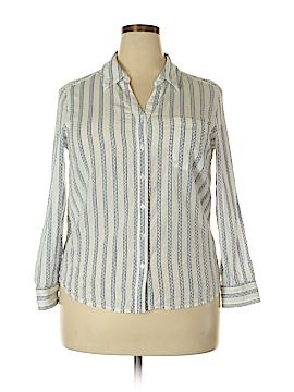 Style&Co Long Sleeve Button-Down Shirt Size XL (Petite)