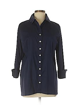 Soft Surroundings Long Sleeve Button-Down Shirt Size L (Petite)
