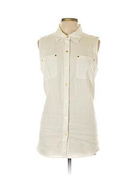 Ellen Tracy Sleeveless Button-Down Shirt Size L