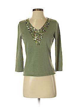 Alberto Makali 3/4 Sleeve Silk Top Size L