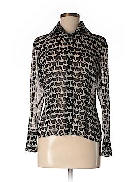 INC International Concepts Long Sleeve Silk Top Size 6 (Petite)