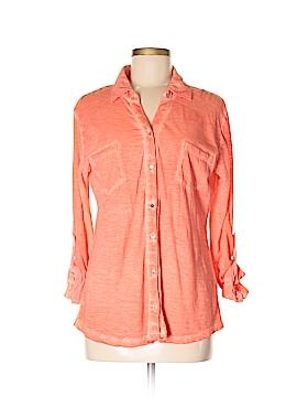 Casual Studio Long Sleeve Button-Down Shirt Size S