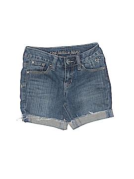 Justice Denim Shorts Size 6