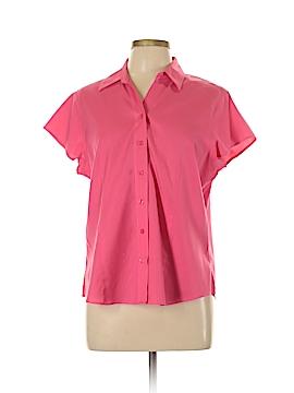 Coldwater Creek Short Sleeve Button-Down Shirt Size L (Petite)