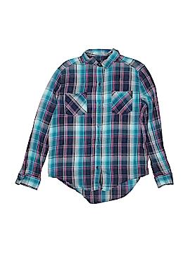 Mudd Girls Long Sleeve Button-Down Shirt Size 14