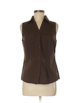 Ann Taylor Factory Sleeveless Button-Down Shirt Size 8