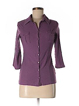 Great Northwest Indigo 3/4 Sleeve Button-Down Shirt Size S