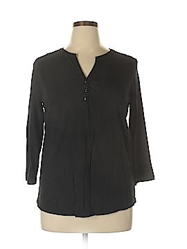 Kim Rogers 3/4 Sleeve Henley Size XL