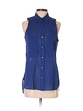 I Love H81 Sleeveless Button-Down Shirt Size S