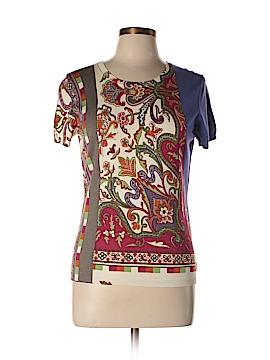 ETRO Short Sleeve Silk Top Size 50
