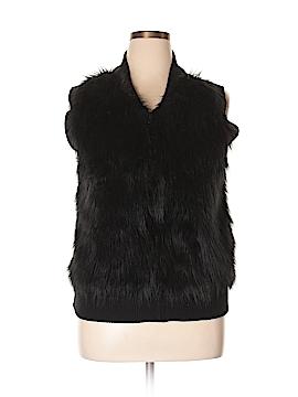 I Heart Ronson Faux Fur Vest Size XL