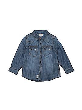 Zara Long Sleeve Button-Down Shirt Size 4