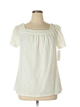 Charter Club Short Sleeve Blouse Size XL