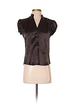 Zara Short Sleeve Silk Top Size S