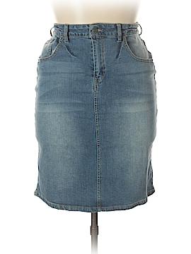 Kenneth Cole REACTION Denim Skirt Size 12