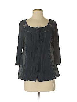 Deletta 3/4 Sleeve Button-Down Shirt Size S