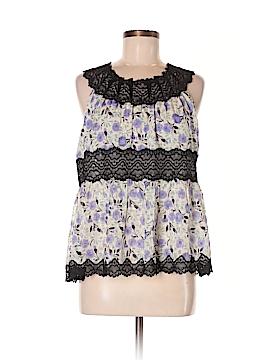 Anna Sui Sleeveless Silk Top Size M