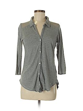 Hollister 3/4 Sleeve Button-Down Shirt Size M