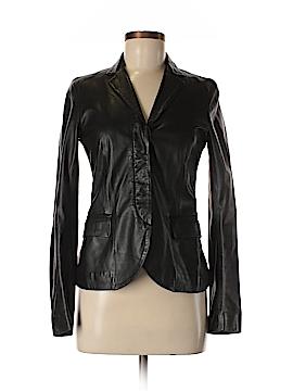 Theory Leather Jacket Size 6