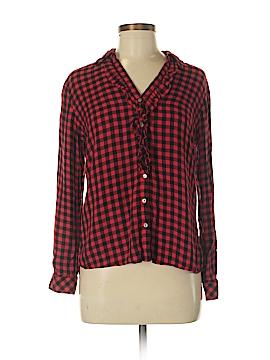 Maison Jules Long Sleeve Button-Down Shirt Size M