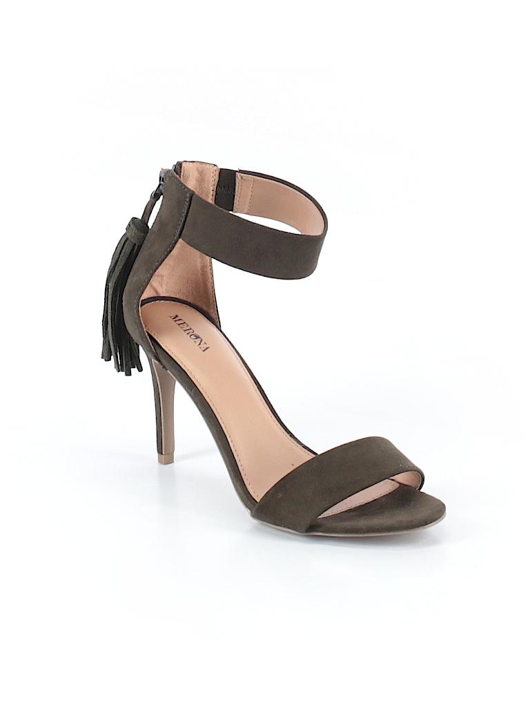 32a1d549a3af Merona Solid Dark Green Heels Size 8 - 70% off