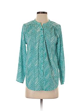 Aqua Long Sleeve Blouse Size M