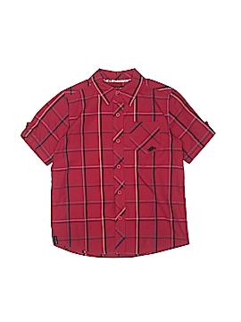 Hawk Short Sleeve Button-Down Shirt Size 7