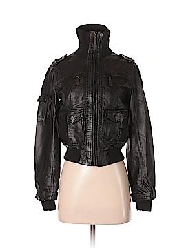 Hydraulic Faux Leather Jacket Size S
